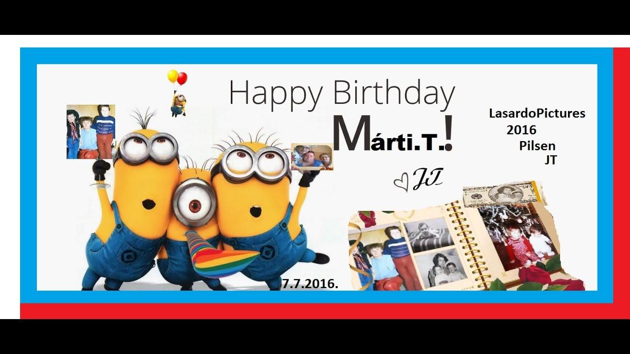 boldog születésnapot happy birthday Happy Birthday/Všetko najlepšie/Boldog születésnapot 2016/Mártika  boldog születésnapot happy birthday