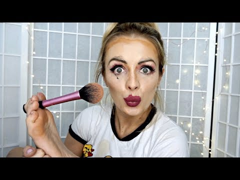FOOT MAKEUP CHALLENGE!  MAKEUP WITH MY FEET! | Annelise Jr