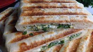 Кутабы - тонкие пирожки с сыром и зеленью на гриле GFGRIL