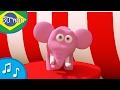Um cinza balanceamento de elefante - canção de ninar para crianças Tinyschool Português
