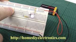 Transistor Touch Switch Simple Science Project