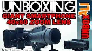 Giant 40x60 Phone Zoom Lens Optical Monocular Telescope