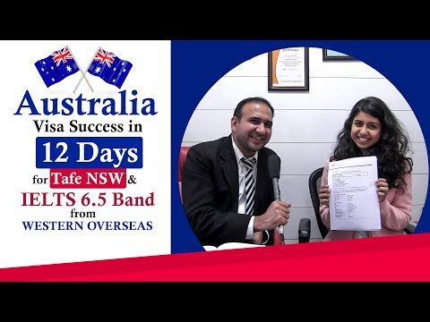 Australia Visa In Just 12 Days -  For Tafe NSW