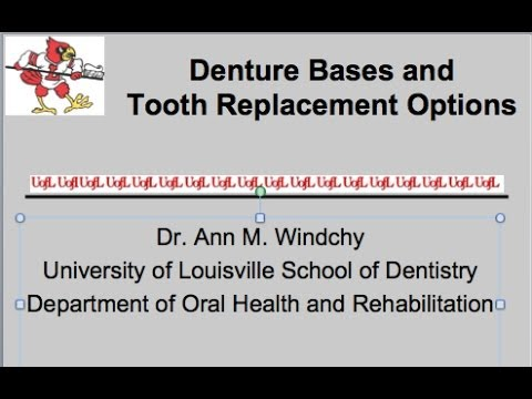 Denture Bases & Tooth Replacement Options for R P D Lecture #8