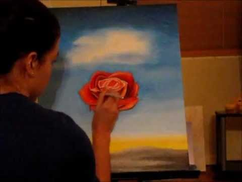 Salvador Dali Rose Speed Painting Youtube