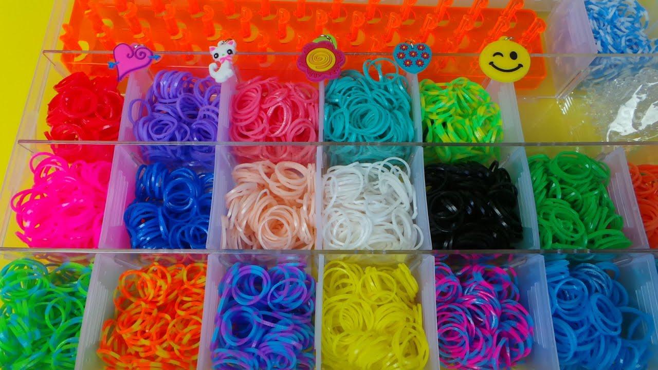 Loom Twister Kit et boîtier de rangement 1000 loom bands 8+
