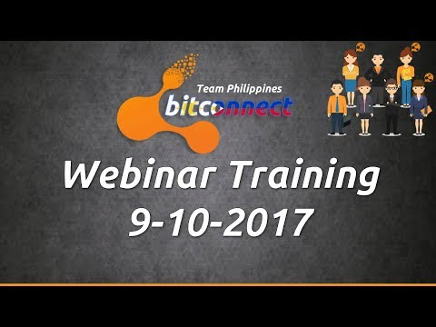 Bitconnect Tagalog Team Philippines Webinar - Sept. 10, 2017