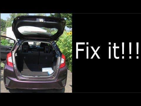 Back Rear Door/Trunk on Honda Fit Won't Open