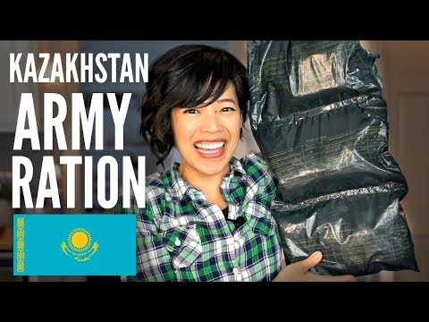 KAZAKHSTAN 24-hour ARMY RATION TASTE TEST | Kazakh MRE