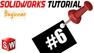 6- SolidWorks beginner TUTORIAL: REVOLVED BASE /R.LINE ANGLE