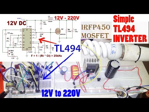 DIY 500 Watts TL494 12v - 220v Inverter Part 3