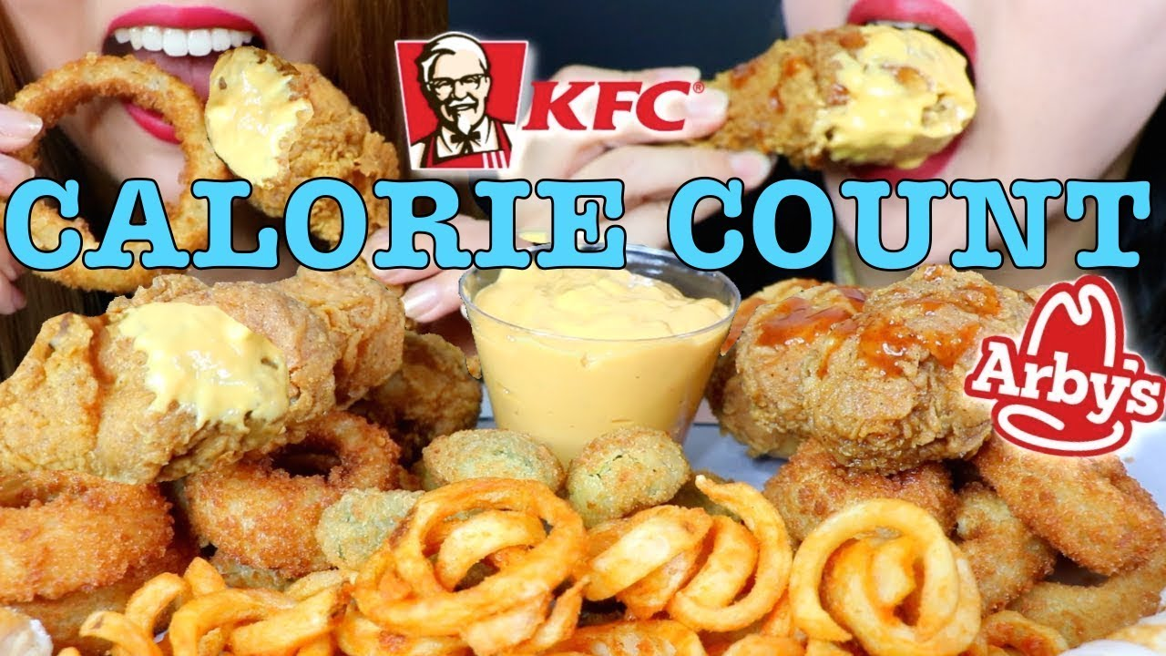 "Calorie Count - Kim&Liz ""ASMR CHEESY FRIED FOOD FEAST (KFC FRIED CHICKEN + ARBY'S + TURNOVERS)"""