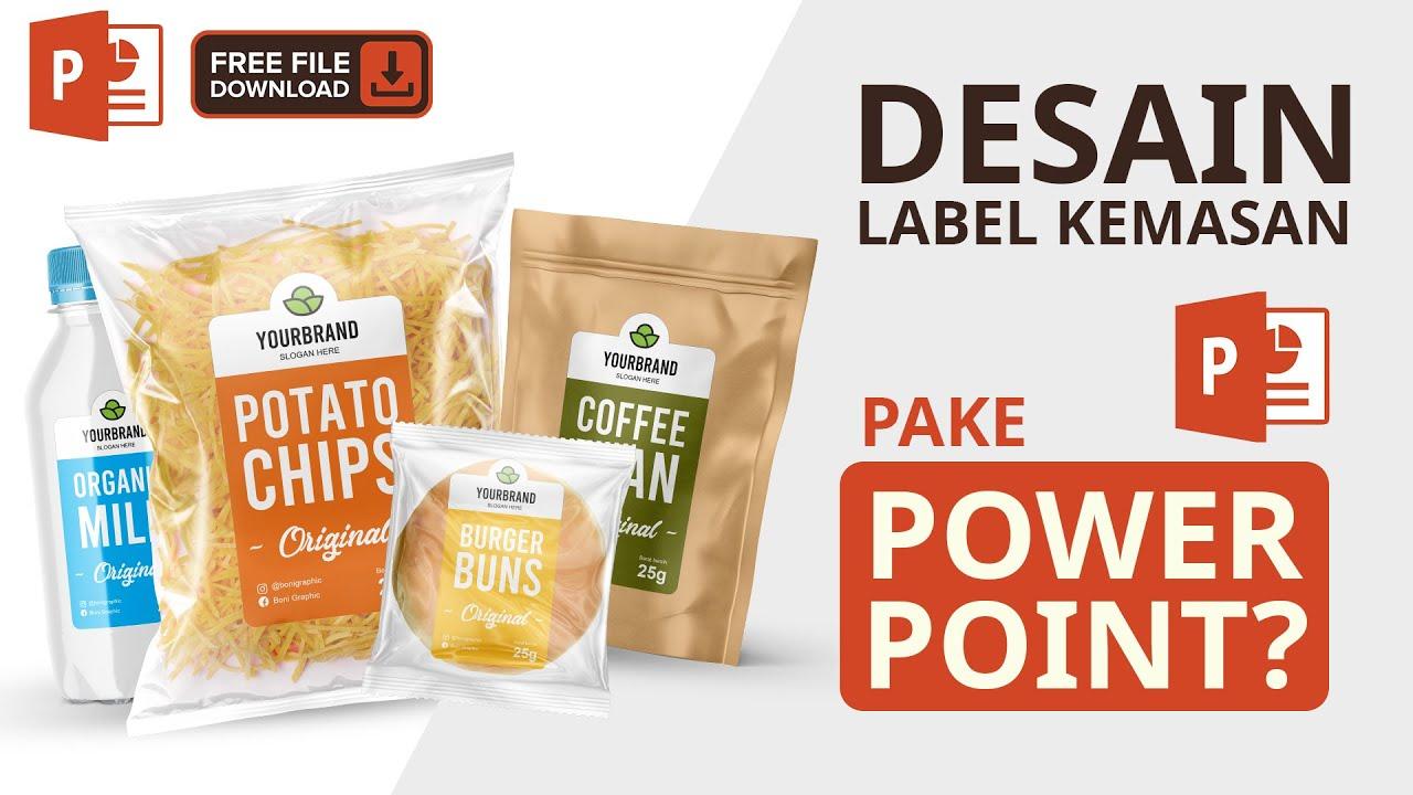 Desain Stiker Label Untuk Berbagai Jenis Kemasan - PowerPoint Free Download