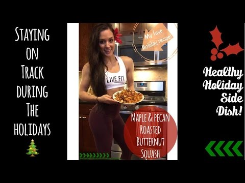 Maple & Pecan Roasted Butternut Squash/ My Favorite Holiday Side Dish!/ Happy Vlogmas 9