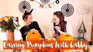 Pumpkin Carving with Gabby 2015 | Zoella