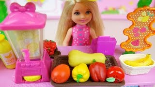 Fruit Juice Shop and Baby doll barbie toys play