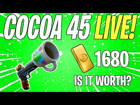 NEW CUP PISTOL COCOA 45! Weekly / Event Store Update LIVE | Fortnite Save The World Livestream