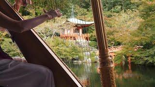 Hermosa Música de Arpa de la Paz  Japón Relajante  Música de Arpa Instrumental Celestial