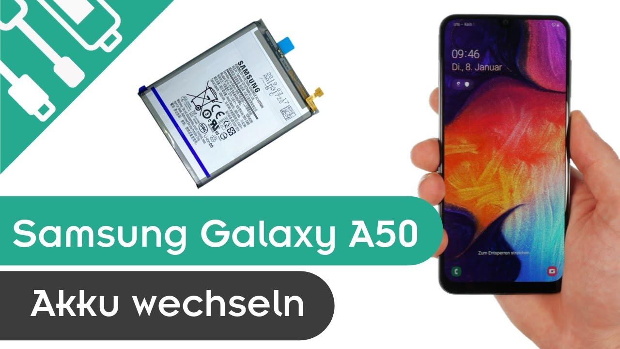 Samsung Galaxy A50 Akku wechseln | kaputt.de - YouTube