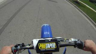 YZ250F Let's go for a ride with Helmet cam GoPro Hero HD!