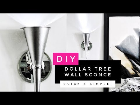 How To Make A Beautiful & Easy Wall Sconce | Home Decor Affordable Lighting Ideas
