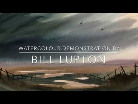 Painting demonstration by Bill Lupton – Atmosphere in a few Minutes