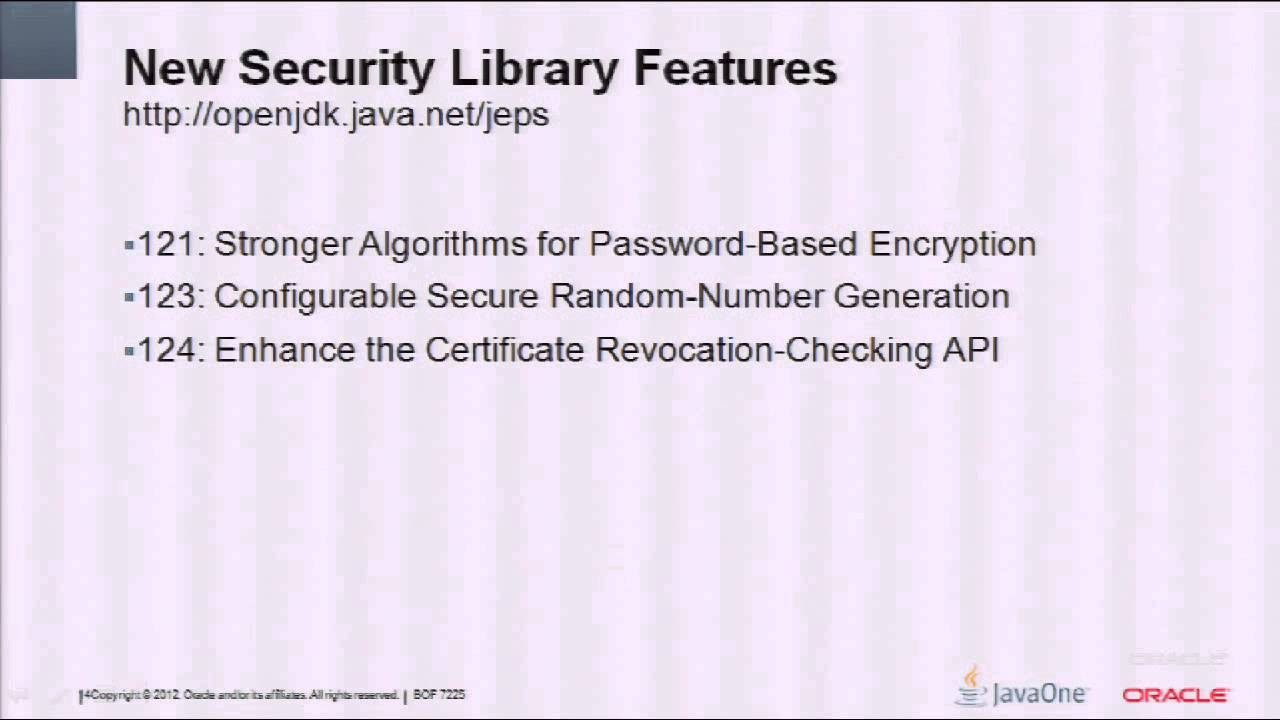 New Security Features and Fundamentals: JDK 8 and Beyond