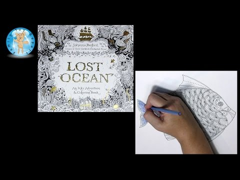 Lost Ocean By Johanna Basford Adult Coloring Book Fish #lostocean Pencils - Family Toy Report