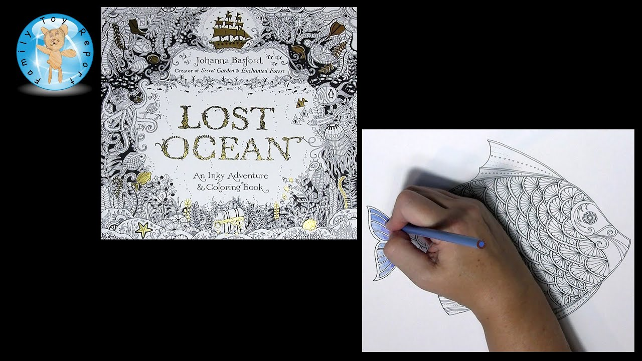 Lost Ocean By Johanna Basford Adult Coloring Book Fish Lostocean