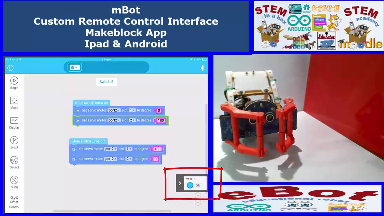 Custom Remote Control Interface for mBot Ipad&Android Makeblock APP