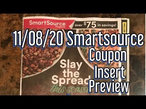 What Coupons Are We Getting? 11/08  Smartsource Coupon Insert Preview