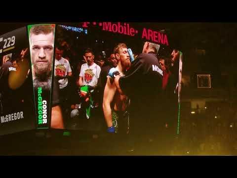 UFC 229 Conor McGregor Entrance vs Khabib Nurmagomedov Las Vegas October 6, 2018