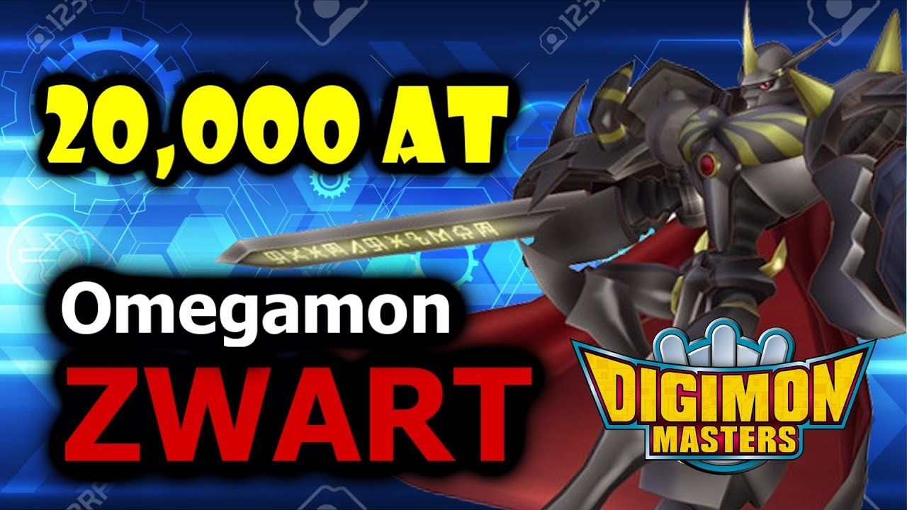 Omegamon Zwart 20,000+ AT - Digimon Masters Online