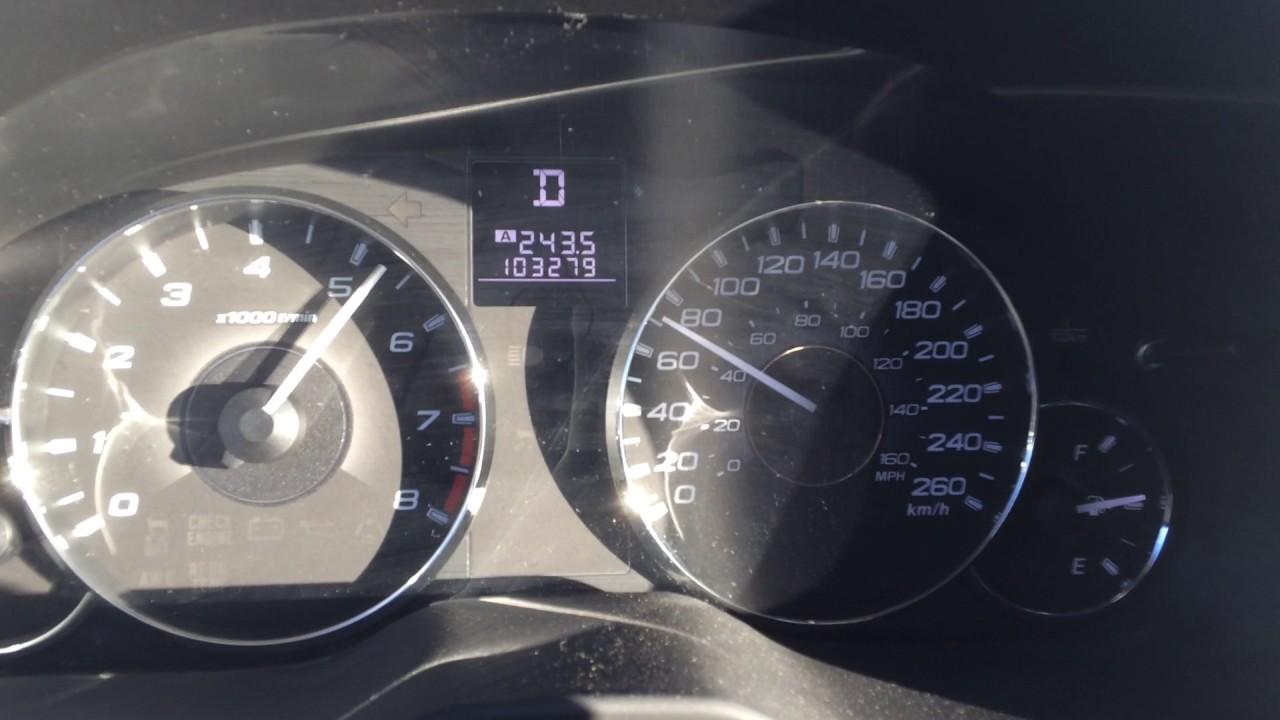 0 60 Mph 2011 Subaru Outback 3 6r Zero To Sixty Acceleration Youtube