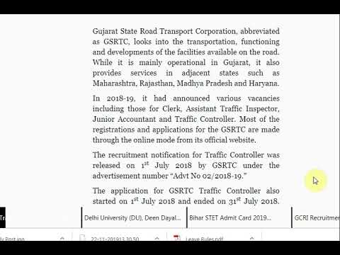 GSRTC Traffic Controller and Junior Assistant Answer Key 2019 Released a...