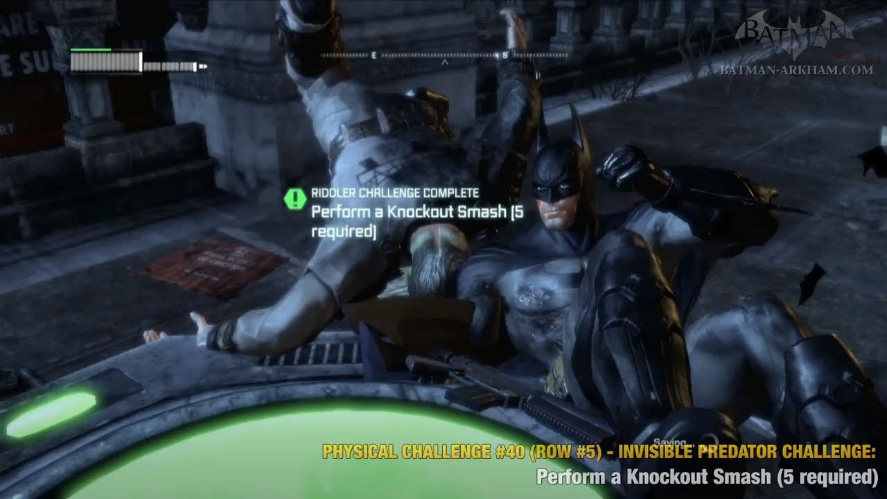 Batman: Arkham City - Physical Challenges - Row #5