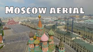 Aerial view of Moscow 4K