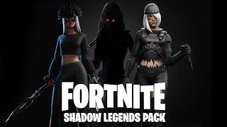 *NEW* SHADOW LEGENDS PACK in Fortnite! (NEW SKIN PACK REWARDS LEAKED)