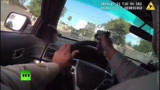 RAW: Cop shoots through own windshield in gun battle & high-speed chase