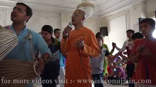 Kirtan with Bhakti Prema Swami Maharaj May 2018 ISKCON Ujjain