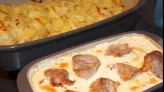 Свиное филе с луковым соусом/Schweinefilet mit Zwiebelsoße/Ofenhexen®-Familie