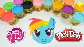 Giant Play-doh My Little Pony Rainbow Dash Surprise Egg Decoration - Diy Play-doh Challenge!