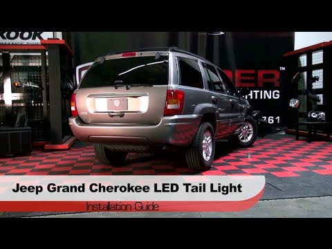 installation 1999 2004 jeep grand cherokee led tail lights youtube. Black Bedroom Furniture Sets. Home Design Ideas