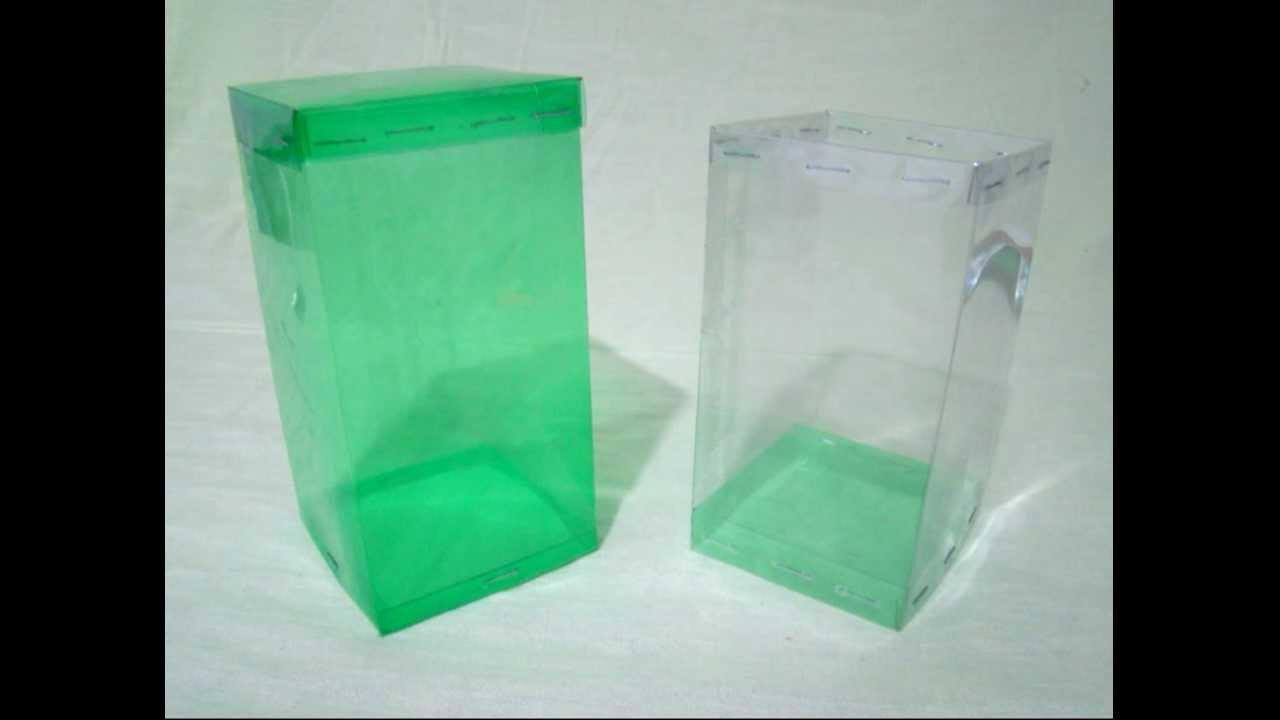 Caja cuadrada hecha con botellas de PET vdeo completo Trabajos