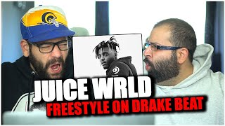 HE MURDERED THE BEAT!! Juice WRLD Freestyles Over 'Headlines' by Drake *REACTION!!