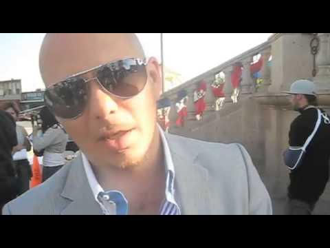 "Pitbull and Cypress Hill on set of ""Armada Latina"" Music Video"