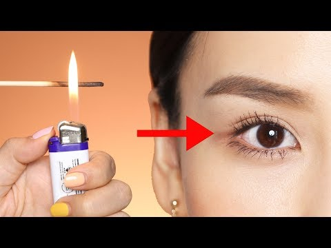 Curling My Lashes with Fire 🔥