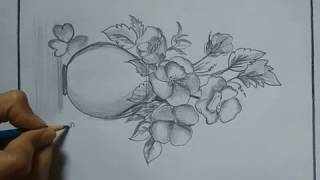 How To Make Flower Pot Design Drawing Free Online Videos Best