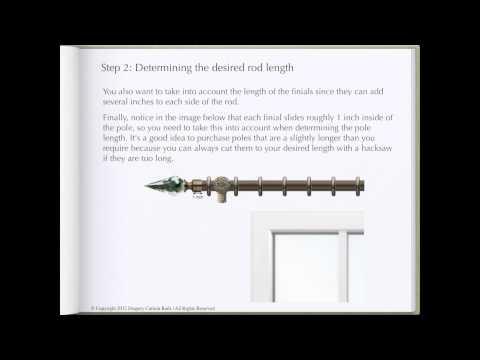 How To Determine Curtain Rod Length