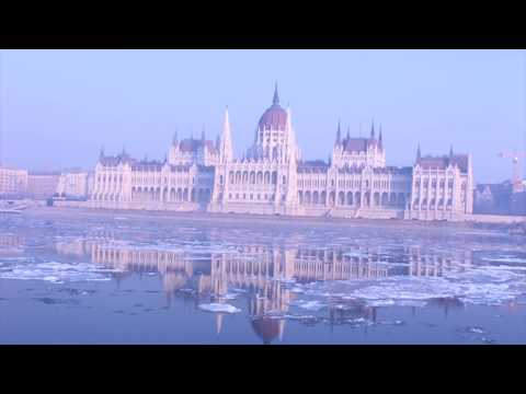 Budapest Parliament | Slow Motion | 2017 January Stock footage